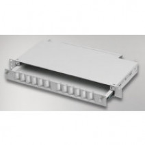 "Mirsan 1U 19"" 12 Port SCD, M Type Fiber Optical Box [MR.FOM1U12SCD.07]"