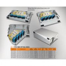 "Mirsan 1U 19"" 48 Port SCS, F Type Fiber Optical Box [MR.FOF1U48SCS.07]"