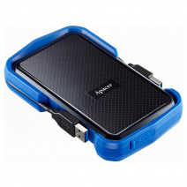 Apacer 1 TB USB 3.1 Portable Hard Drive AC631 Blue Shockproof Water Resistant